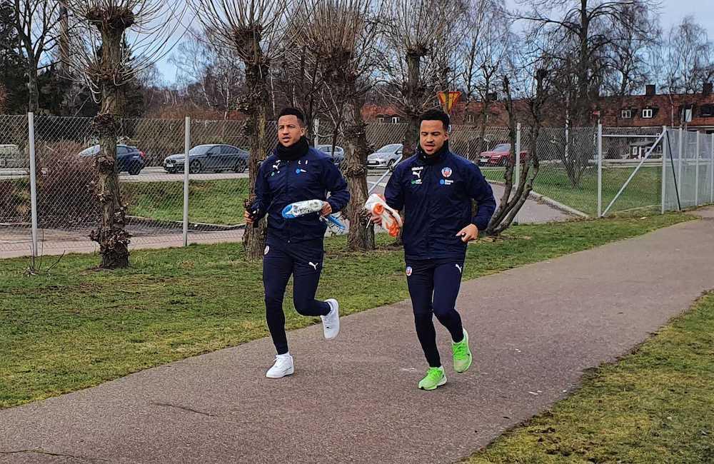 Martin och Marcus Olsson tränar med Helsingborgs IF igen