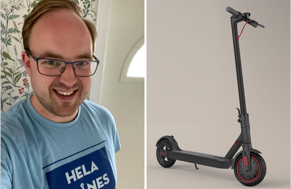 """Billy vann Fotboll Skånes scooter-tävling: """"En fin bonus"""""""