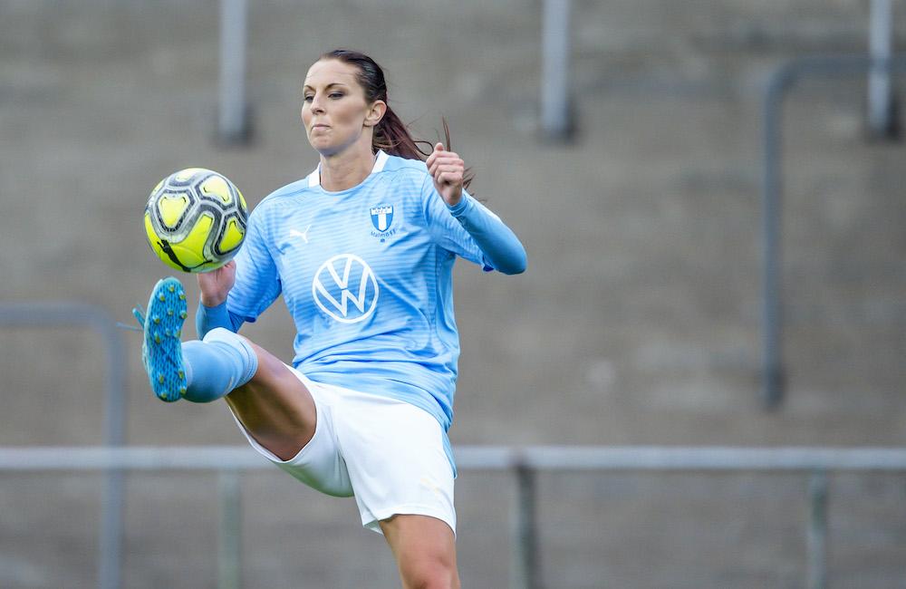 Malin Gunnarsson nätade när MFF spelade 1-1 mot Borgeby