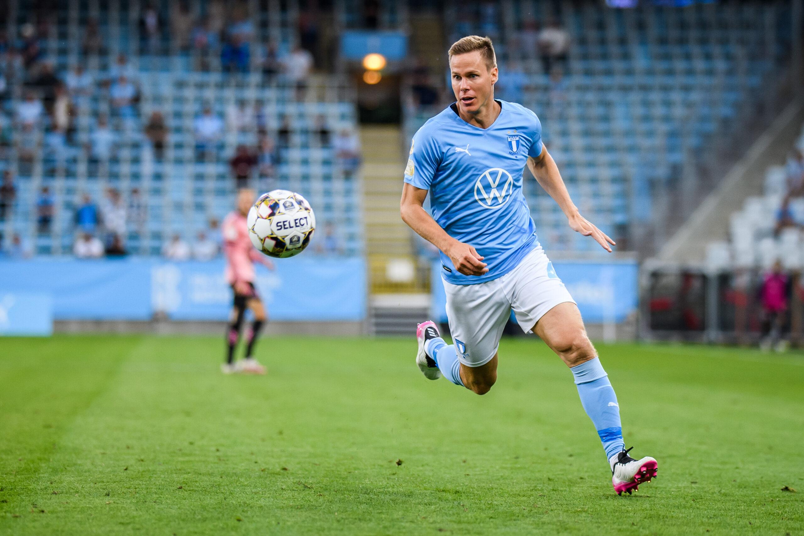 Niklas Moisander spelar från start för MFF mot Mjällby